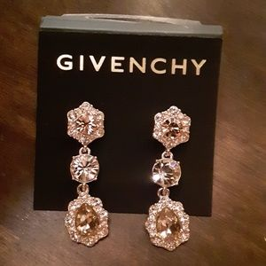 STUNNING Givenchy Gold Crystal Drop Earrings